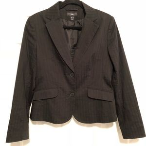 H&M Black Textured Blazer